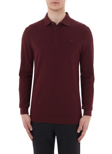 Lacoste  Regular Fit Uzun Kollu Polo T Shirt Erkek Polo Ph2481 Sxl Bordo